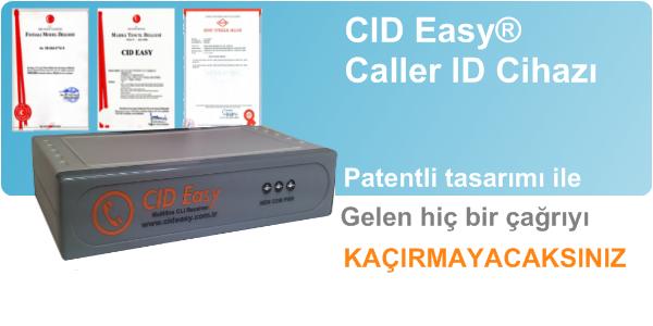 Cid Easy caller id cihazının asenkron port mimarisi ile hiç bir çağrıyı kaçırmayacaksınız